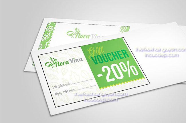 Mẫu phiếu quà tặng 20% từ Flora Vina spa