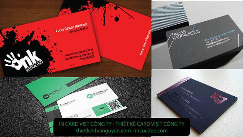 In card visit công ty - card visit cho nhân viên