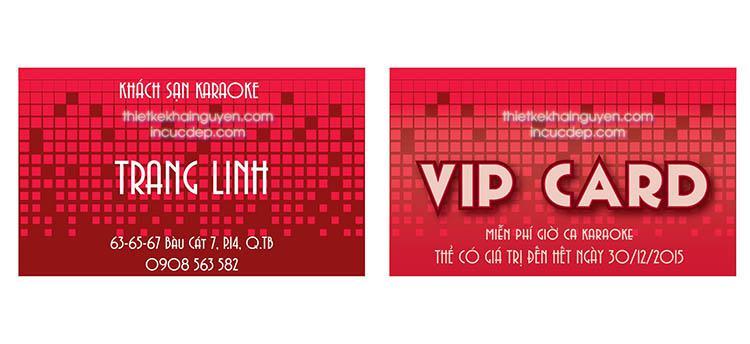 Thẻ VIP - VIP card dành cho quán karaoke