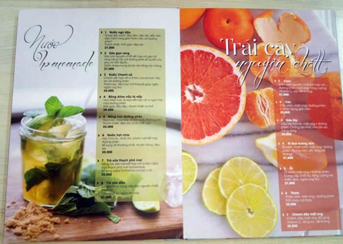 Menu mở phẳng - làm menu dạng photobook