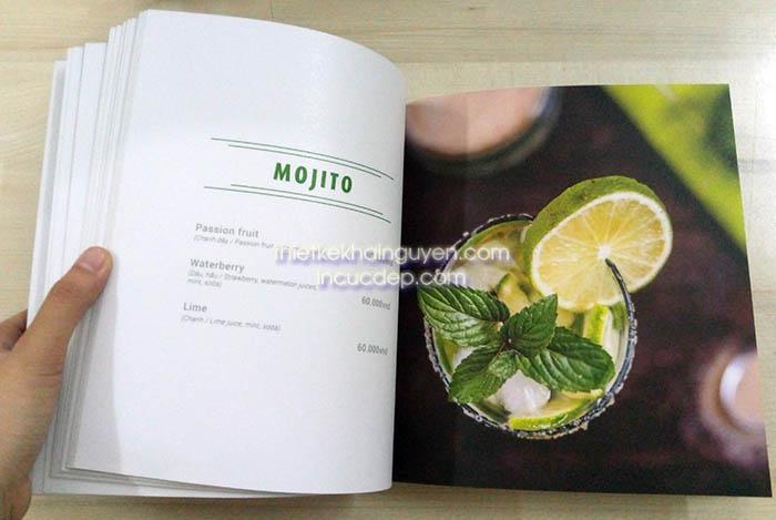 Menu quán coffee - menu thiết kế dạng photobook