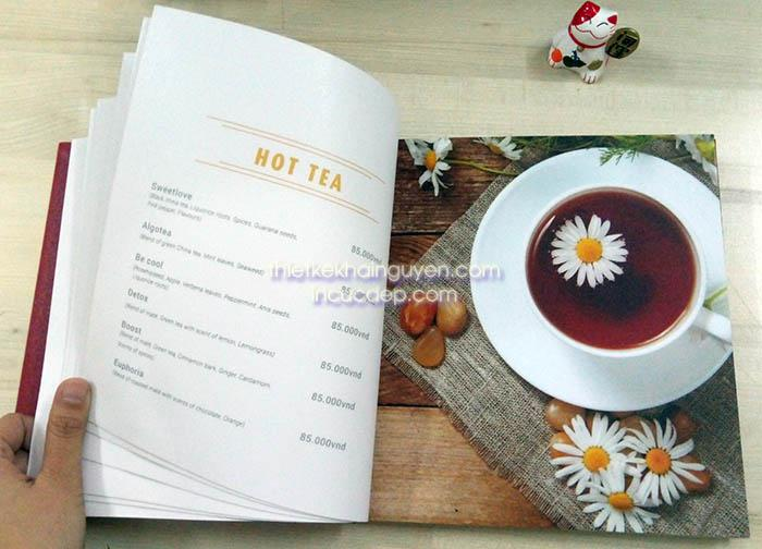 Menu photobook - thiết kế menu phong cách photobook