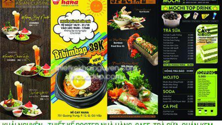 Thiết kế poster nhà hàng – poster món ăn đẹp ấn tương & hiệu quả cao