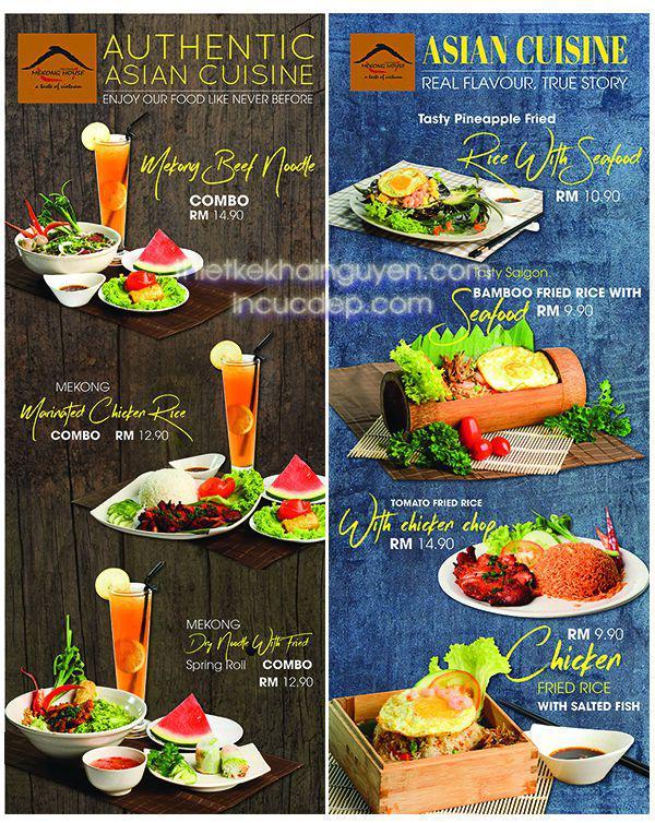 Mẫu thiết kế poster nhà hàng MeKongHouse