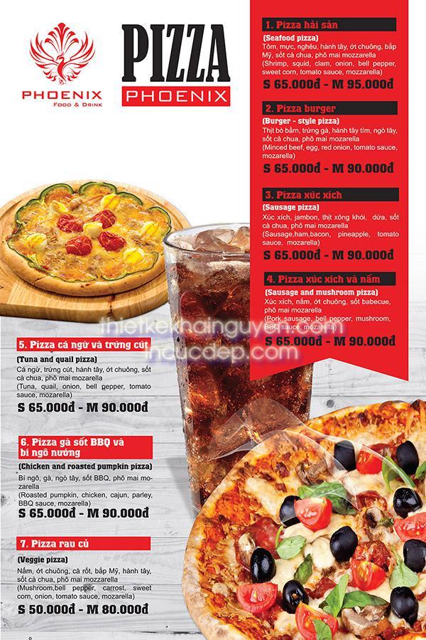 Thiết kế poster nhà hàng PIZZA