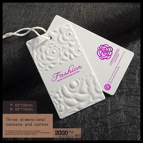 Thẻ treo ép kim hồng - Mẫu thẻ treo đẹp