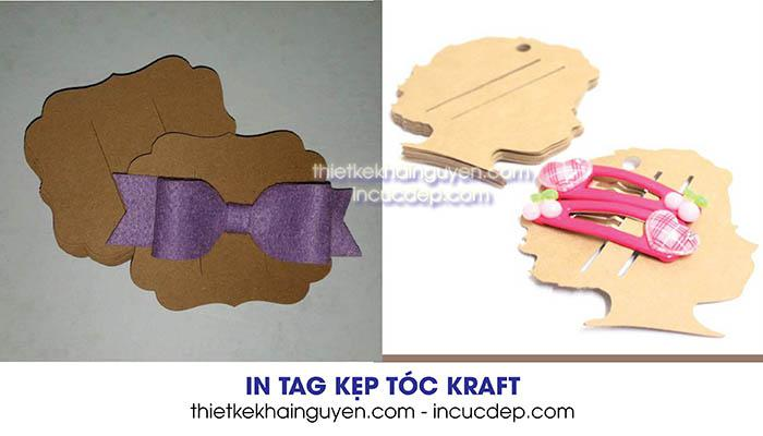 Kiểu dáng in thẻ treo kẹp tóc bằng giấy kraft