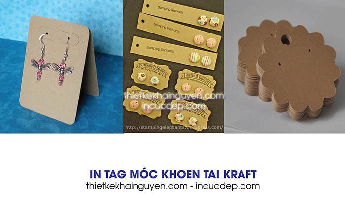 In thẻ treo trang sức - tag treo bông tai bằng giấy kraft