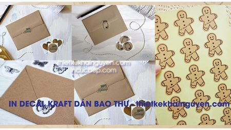 In nhãn dán bao thư bằng giấy kraft cách làm bao thư giá rẻ