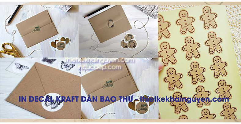 In decal kraft dán bao thư