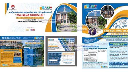 Bộ thiết kế in ấn trường học AMVStudy – Đại diện tuyển sinh quốc tế