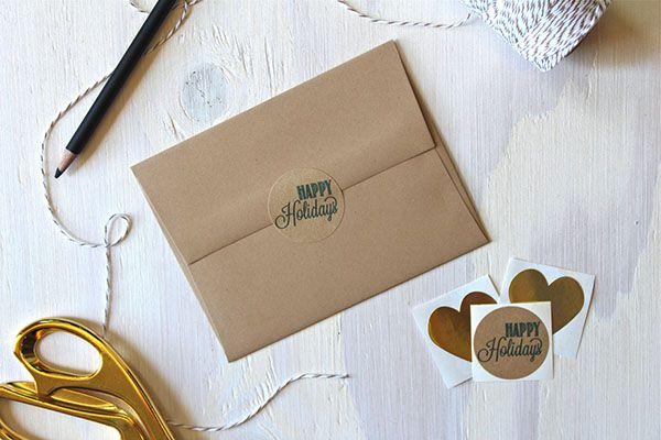 Bao thư giấy kraft sử dụng nhãn dán kraft cực xinh
