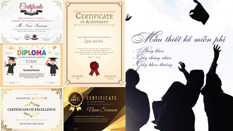 Mẫu bằng khen - giấy chứng nhận - giấy khen tặng