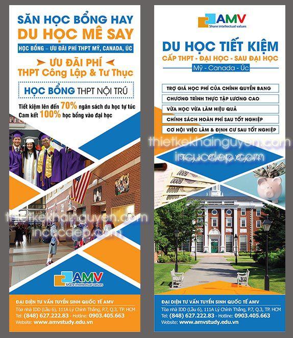 Mẫu thiết kế standee quảng cáo trong bộ thiết kế in ấn trường học