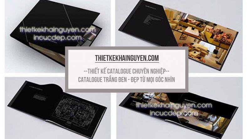 Thiết catalog đen trắng - design catalogue đen trắng