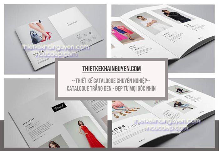 Mẫu thiết kế catalog phong cách đen trắng