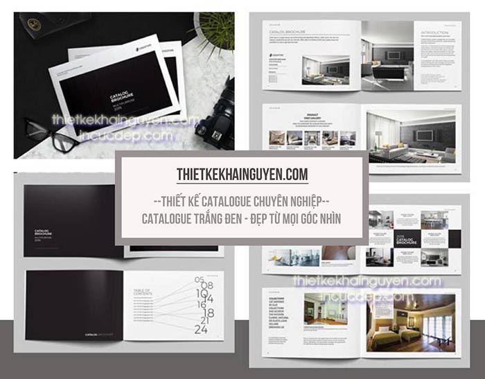 Thiết kế catalog đen trắng sang trọng