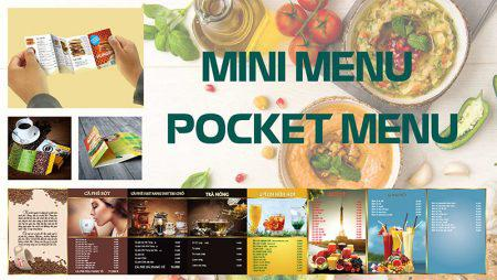 Làm menu siêu nhỏ siêu dễ thương- mini menu pocket menu