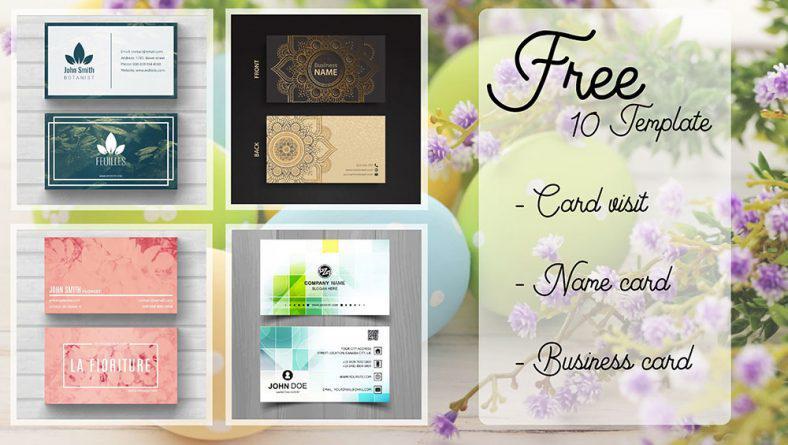 10 mẫu thiết kế danh thiếp miễn phí mới nhất hiện nay