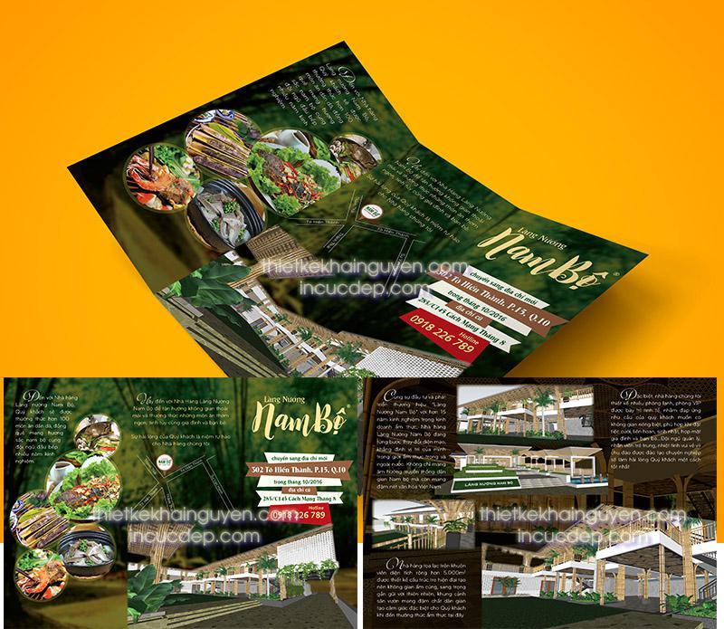 Mẫu thiết kế brochure nhà hàng giới thiệu thông tin