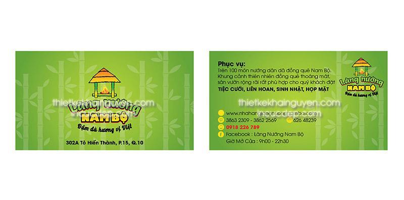 Thiết kế & in card visit ẩm thực làng nướng