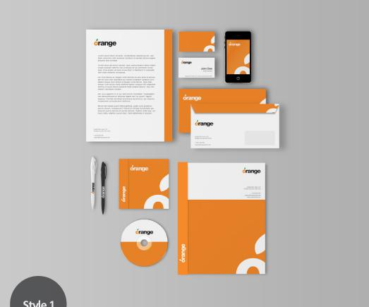 Trọn bộ thiết kế in ấn thương hiệu cho công ty điện tử