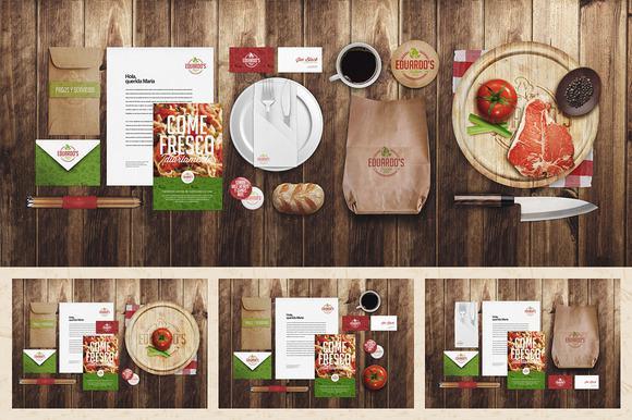 Gói nhận diện thương hiệu cho nhà hàng