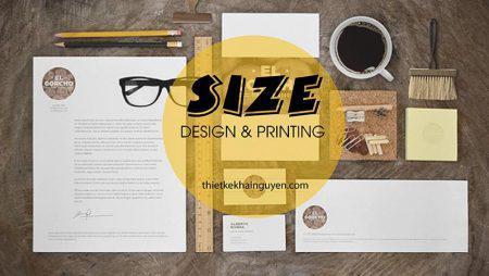 Kích thước chuẩn, thông dụng của tất cả các ấn phẩm in ấn