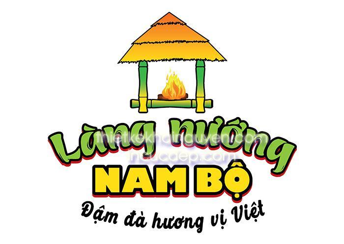 Logo trong bộ nhận diện làng nướng