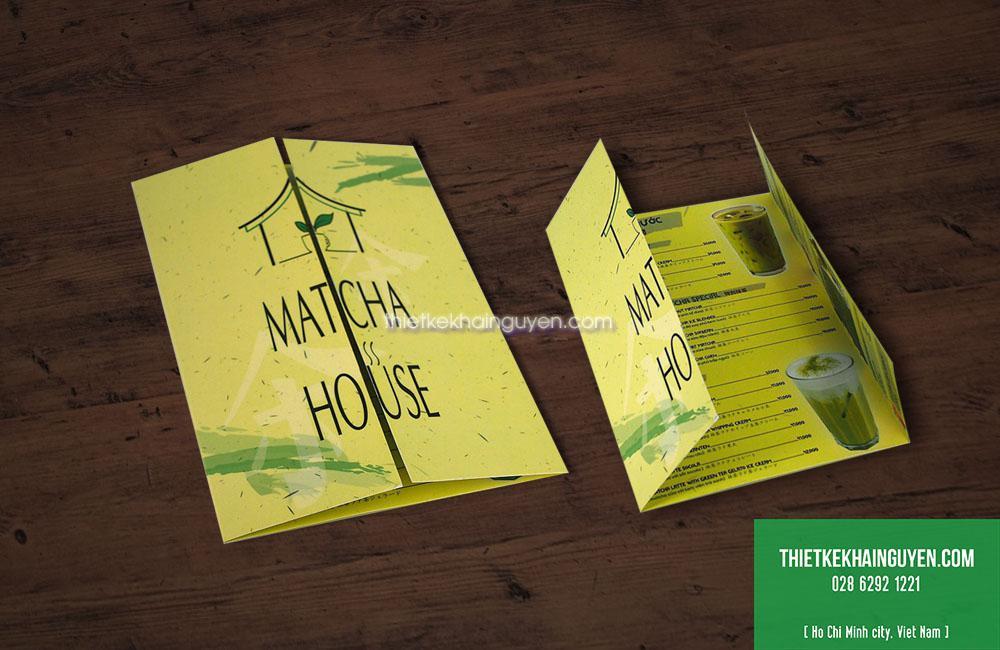 Mẫu thiết kế menu nhà hàng bằng giấy bồi