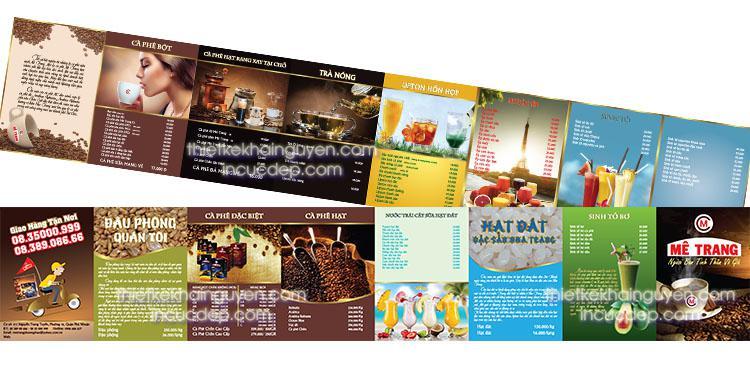 Dạng menu siêu nhỏ - thiết kế theo kiểu menu pocket gấp 8