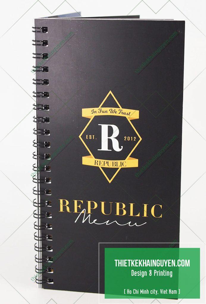 Mẫu thực đơn nhựa quán cafe Republic