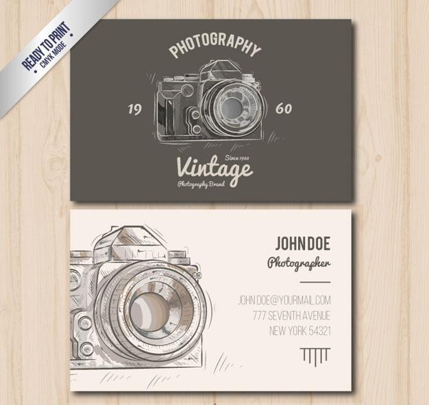 Mẫu danh thiếp miễn phí - danh thiếp Photographer