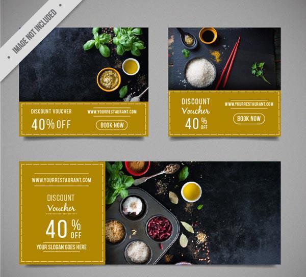 Mẫu thiết kế voucher nhà hàng số 2