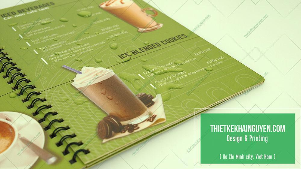 In menu nhựa cho quán trà sữa