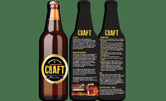 Mẫu thiết kế tờ rơi độc đáo dạng chai beer