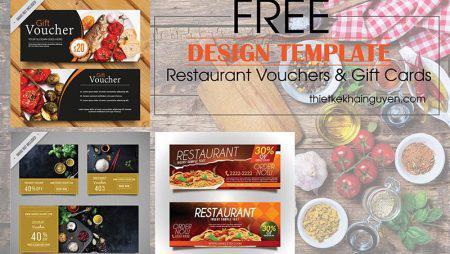 Thiết kế voucher nhà hàng đẹp – Restaurant Vouchers & Gift Cards