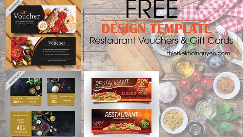 Mẫu thiết kế voucher nhà hàng - giftvoucher nha hàng