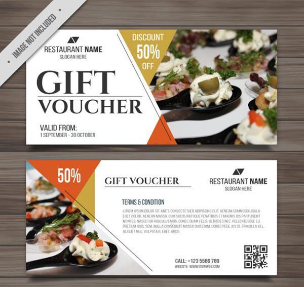 Mẫu thiết kế gift voucher - gift card nhà hàng số 7