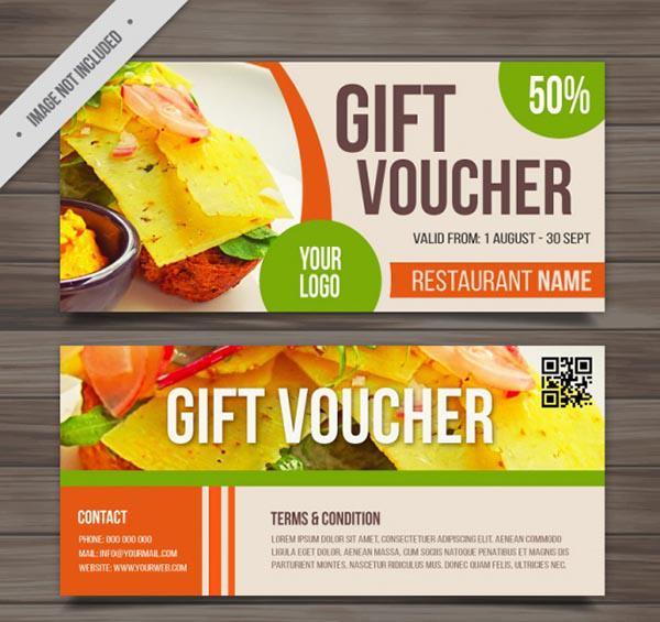 Mẫu thiết kế gift voucher nhà hàng số 6