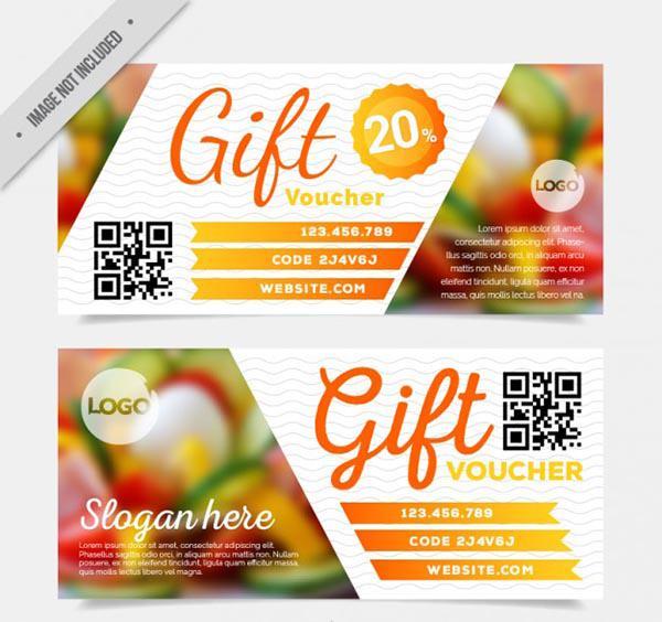 Mẫu thiết kế gift voucher nhà hàng số 5