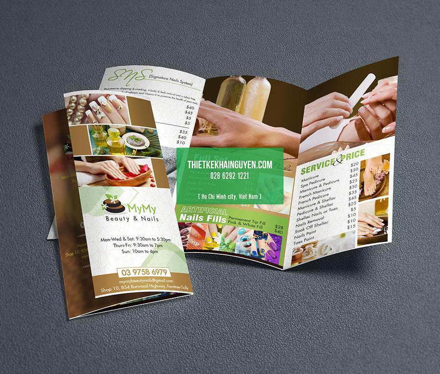 Brochure mẫu của MyMy Beauty Nail