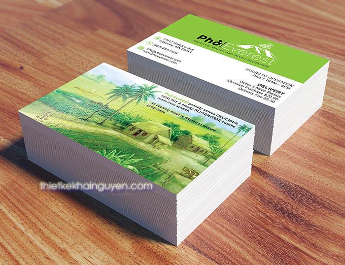 Mẫu thiết kế card visit nhà hàng Phở