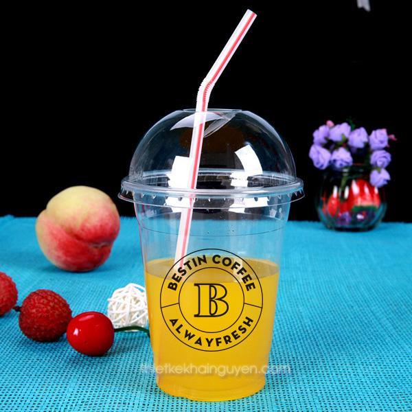 In logo dán ly nhựa cho quán cafe