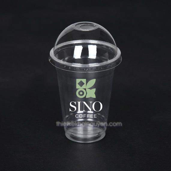 In nhãn dán ly nhựa bằng decal nhựa trong suốt