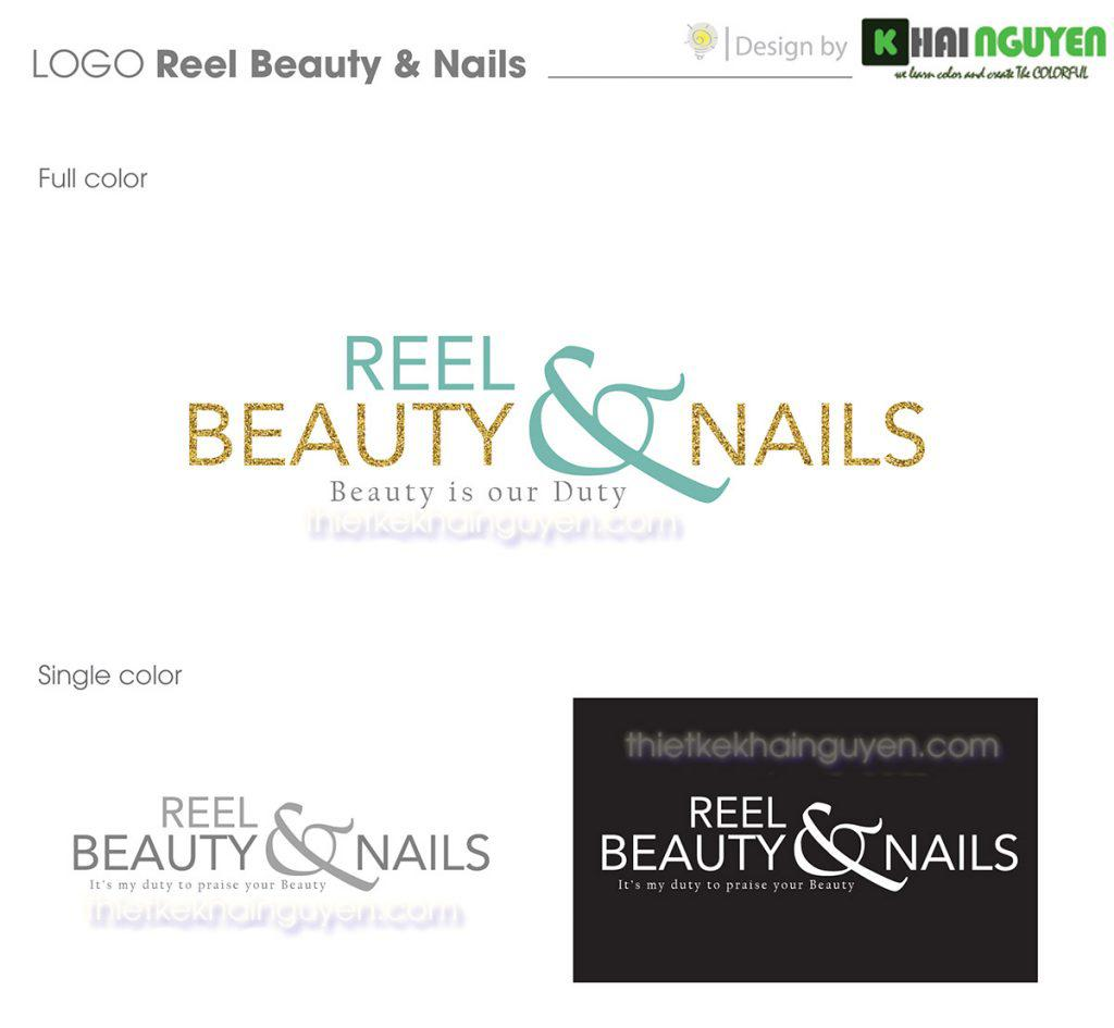 Mẫu logo Reel Beauty & Nails