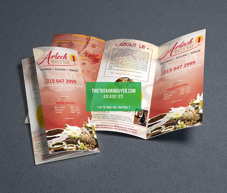 Mẫu brochure của Artech Nails Bar