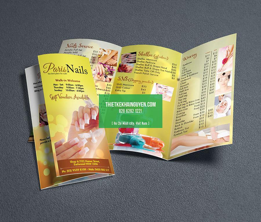 Paris Nail - brochure thiết kế theo phong cách hiện đại