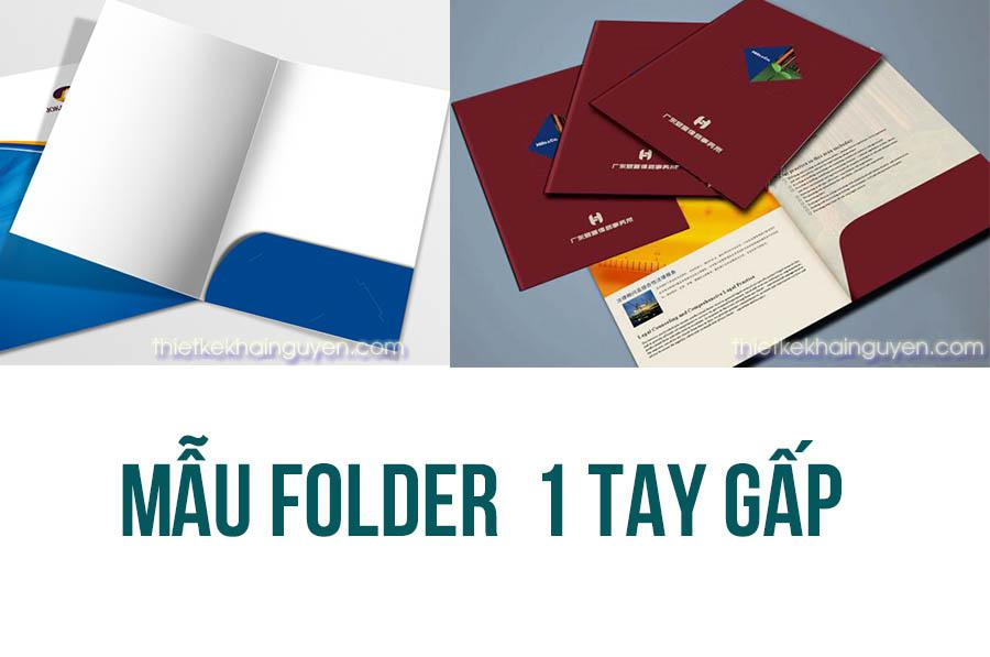 Mẫu folder 1 tay gấp chuẩn