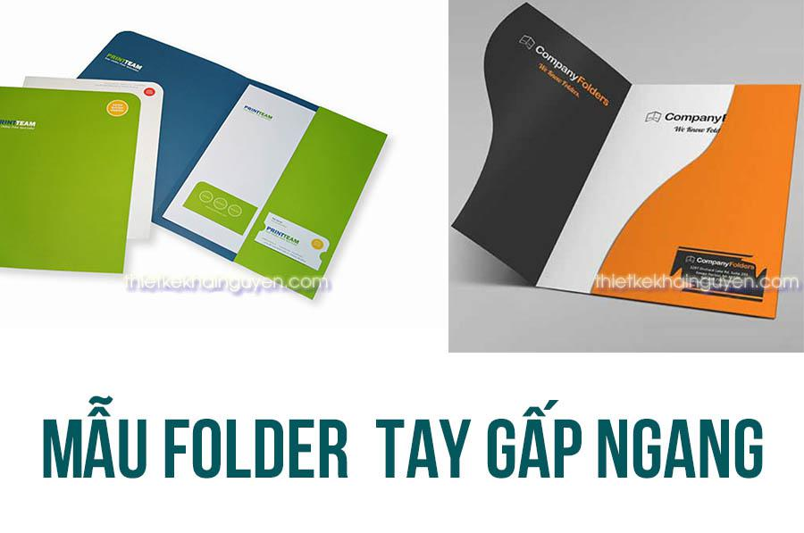 Folder sử dụng tai gấp ngang